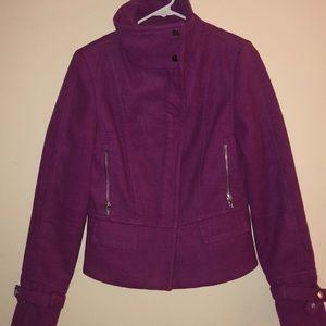 Express Wool Magenta Coat